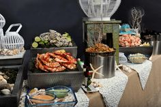 New Wedding Food Buffet Seafood Ideas Seafood Lasagna Recipes, Seafood Buffet, Best Seafood Recipes, Pasta Sauce Recipes, Risotto Recipes, Seafood Risotto, Seafood Bisque, Gumbo Slow Cooker, Abigail Kirsch
