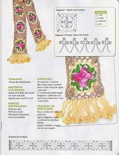 crochet , patrones: bufanda