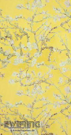 Elegant BN Tapeten Van Gogh 12 17143 Mandel Blüte Vliestapete Gelb Tapezieren,  Tapete Gelb