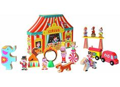 Janod Circus. just found this toy company and all their toys are so lovely looking