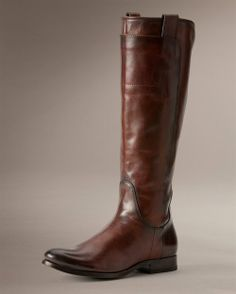 Melissa Tall Riding boot in Redwood | thefryecompany.com | $418