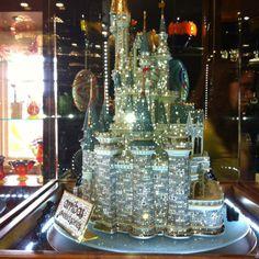 Hundreds-thousand dollar diamond Cinderella castle-- saw this in Disney; Disney Fun, Disney Stuff, Walt Disney, Disney World Store, Joy Ride, Cinderella Castle, Volvo, Disneyland, Florida