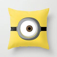 Minion Throw Pillow by Bearded Manatee