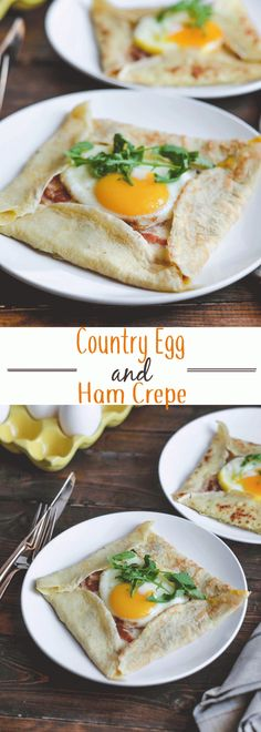 These Cheesy Country Ham and Egg Crepes are the perfect lazy Sunday morning breakfast or brunch to serve overnight guests!