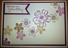 Tanja´s Stempel Zauberland: GeburtstagskartePapier/Farbe: Brombeere, Honigge...
