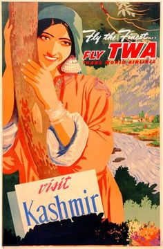 Buy Vintage Airline and Aeroplane Posters as giclee printed posters, framed prints and canvas prints. Tourism Poster, Poster Ads, Vintage Airline, Vintage Travel Posters, Travel And Tourism, India Travel, Travel Tips, Kashmir Tourism, India Poster