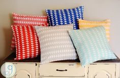 GroopDealz   Itty Bitty Triangle Print Pillow Cover- 6 Colors!