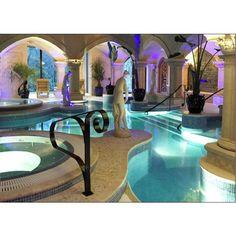 Indoor Swimming Pools, Luxurious Pool Design, Pool Ideas ❤ liked on Polyvore