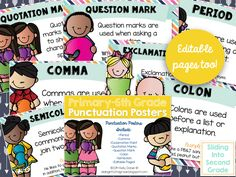 Punctuation Posters - free