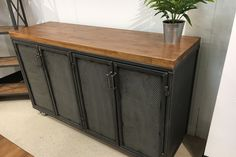 The Edwin Credenza is a great addition to any workspace #organizing #office http://www.ironageoffice.com/