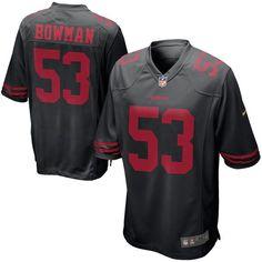 Men's San Francisco 49ers NaVorro Bowman Nike Black Alternate Game Jersey
