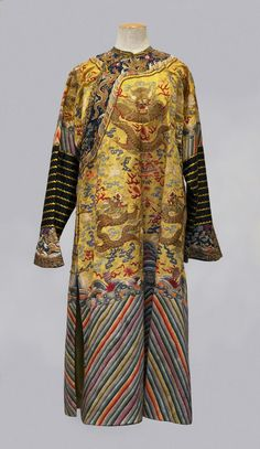 FIVE CLAW CEREMONIAL LONGPAO (DRAGON) ROBE, QING-DYNASTY, ANTIQUE CHINESE