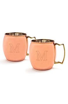 Cathy's Concepts Personalized Moscow Mule Copper Mugs (Set of 2) M One Size by: CATHY'S CONCEPTS @Nordstrom