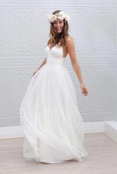 beach wedding dresses idea by Marie Laporte