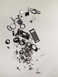 I have become a BIG fan of Canadian Photographer, Todd McLellan, since I discovered him, particularly his deconstruction pieces such as the rocking horse shown below. He has recently brought out a… Blog Art, Pentax Camera, Exploded View, Coming Apart, Oldschool, Explosions, Vintage Cameras, Everyday Objects, Deconstruction