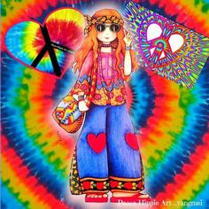 Hippie Peace and Love