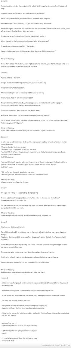 Management Lessons... Worth A Read