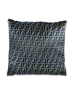 Boconcept Modern Geometric Throw Pillow In Black Light