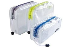 3 Pack Organizer Storage Packing Bags by GoToBag - Clear Water Resistant Solid Reinforced PVC Mesh Plastic with Zipper Closure - for Travel, Office, School, Arts and Craft, Purse, Cables, All-Purpose >>> You can get more details by clicking on the image.
