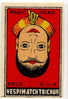 Indian matchbox label, 1920's #POSTER #PROHINITIONISM #1920 #GRAPHICS