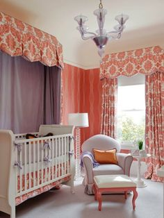You can decorate your baby nursery with glider and ottoman set. Choose the best design and style ideas. Always pick one set that offers great comfort Glider And Ottoman, Girls Bedroom, Valance Curtains, Cribs, Decoration, Toddler Bed, Kids Room, Cool Designs, Nursery
