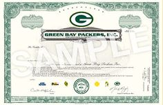 Green Bay Packers Stock Sale 2011 - How to Buy Packers Stock 2011 ...