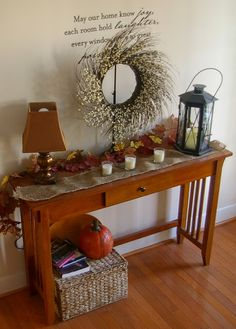 This is almost exactly what my entry way table looks like!