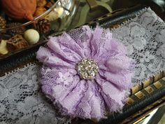 Purple and Grey Garter. $11.00, via Etsy.