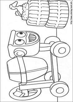 Bob the Builder coloring picture Colouring Pages, Coloring Sheets, Coloring Books, Art For Kids, Crafts For Kids, Bob The Builder, Construction Theme, 4th Birthday Parties, Kids Corner