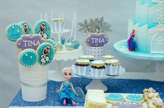 Frozen Party Boys 1st Birthday Party Ideas, Baby Birthday, Rosette Cake, Mermaid Parties, Under The Sea Party, Balloon Garland, Mermaid Birthday, Frozen Party, Party Printables