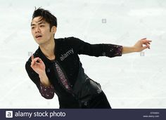 Download this stock image: Sochi, Russia. 13th Feb, 2014. Daisuke Takahashi of Japan performs during the Men's Short Program of the Figure Skating event at Iceberg Skating Palace during the Sochi 2014 Olympic Games, Sochi, Russia, 13 February 2014. Photo: Christian Charisius/dpa Credit:  dpa picture alliance/Alamy Live News - DTAXEH from Alamy's library of millions of high resolution stock photos, illustrations and vectors.