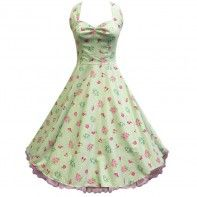 "LaFrock's ""Polly Anna"" vintage aqua floral tea party prom dress"
