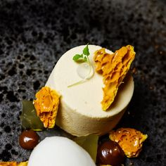 Grafene in Manchester have some of the best desserts in the city. Here is their toffee parfait with lemon, granola, honeycomb & yoghurt sorbet  #dessert #manchester #mcr #granola #sorbet #yoghurt #treatyoself