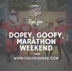 Tips on how to handle the expo, photo ops and race day for the Dopey, Goofy, Disney Marathon Weekend.