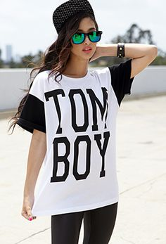 Forever 21 is the authority on fashion & the go-to retailer for the latest trends, styles & the hottest deals. Shop dresses, tops, tees, leggings & more! Tomboy Outfits, Tomboy Fashion, Dope Fashion, Girl Fashion, Girl Outfits, Cute Outfits, Outfits For Teens, Summer Outfits, Boyfriend Tee