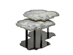 Brenda Houston Nesting Agate Tables