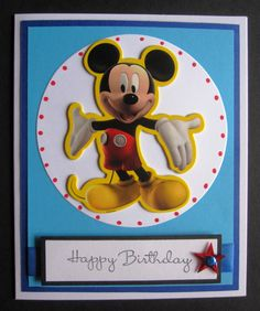 Mickey Mouse Happy Birthday Card