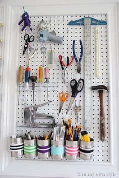 How To Organize The Tools in Your Craft Space | In My Own Style