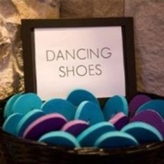 a58520684480ed Fun Wedding Idea! Offer flip flops as dancing shoes at the reception!  Perfect for