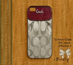 Coach Inspired Coach Gold Brown - iPhone 5 Case, iPhone case, iPhone 5s Case, iPhone 5 Cover, Hard iPhone 5s Case