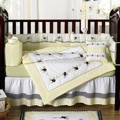 Lovely Bumble Bee Nursery Bedding