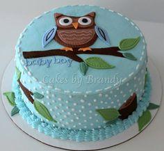 owl have a boy (shower cake)