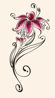 pink lily with stem in this place we present tattoo designs with lilies. lily is one of the most popular design for floral tattoo. Pretty Tattoos, Love Tattoos, Beautiful Tattoos, Tribal Tattoos, Small Tattoos, Lily Tattoo Design, Tattoo Designs, Tigeraugen Tattoo, Creative Tattoos