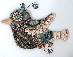 Time Flies I (pamela carman) Tags: bird clock whimsy polymerclay canes kato millefiori millefioricanes pamcarman pamelacarmancreations