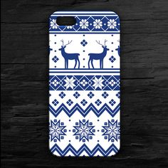 Reindeer Ugly Christmas Case for iPhone 4 and 5 by theminifab, $11.00
