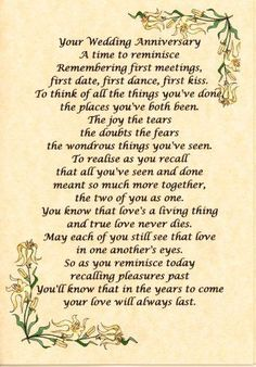 Wedding Quotes : QUOTATION – Image : Quotes Of the day – Description wedding anniversary verses Anniversary Card Sayings, Wedding Anniversary Poems, Anniversary Gifts For Parents, Happy Anniversary, Anniversary Ideas, Golden Anniversary, Anniversary Decorations, Anniversary Parties, Wedding Aniversary