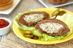 Hungry Girl's Healthy Jalapeño Popper Stuffed Burger Patties Recipe