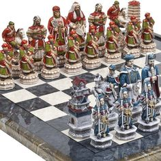 Luxury Chessmen Mancini Chess Board