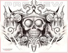 awesome aztec god tattoo design