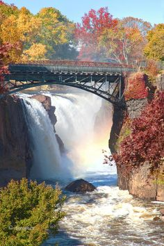 ✮ Passaic River Great Falls, located in Paterson NJ